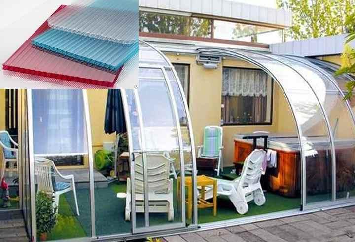 Веранда из поликарбоната: фото, как пристроить к дому. веранда из поликарбоната: пошаговая инструкцияинформационный строительный сайт |
