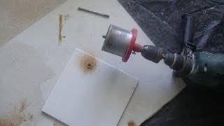 Как правильно сверлить плитку, чтобы не треснула?