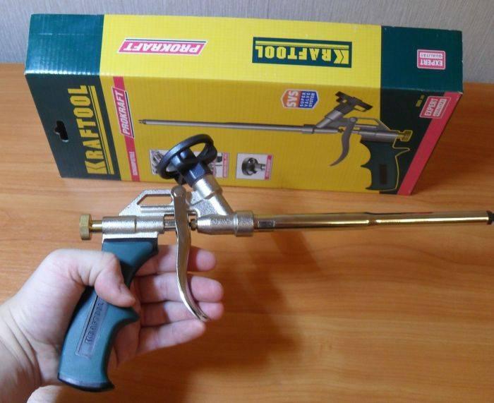 Пистолет для монтажной пены: устройство, рейтинг, советы