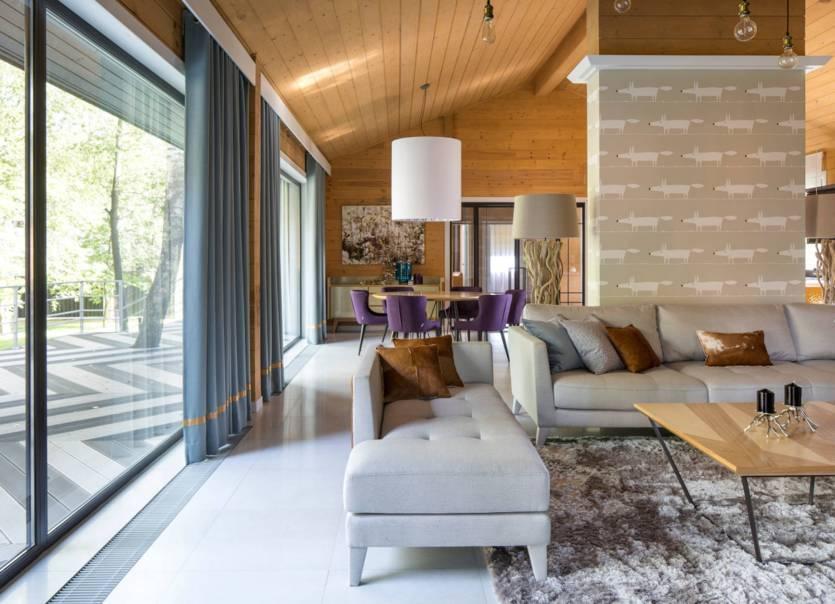 Интерьер дома из бруса: выбор стиля и идеи современного дизайна
