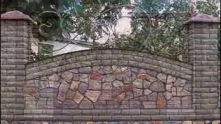 Как сделать забор из натурального камня своими руками, фото, видео кладки каменных ограждений