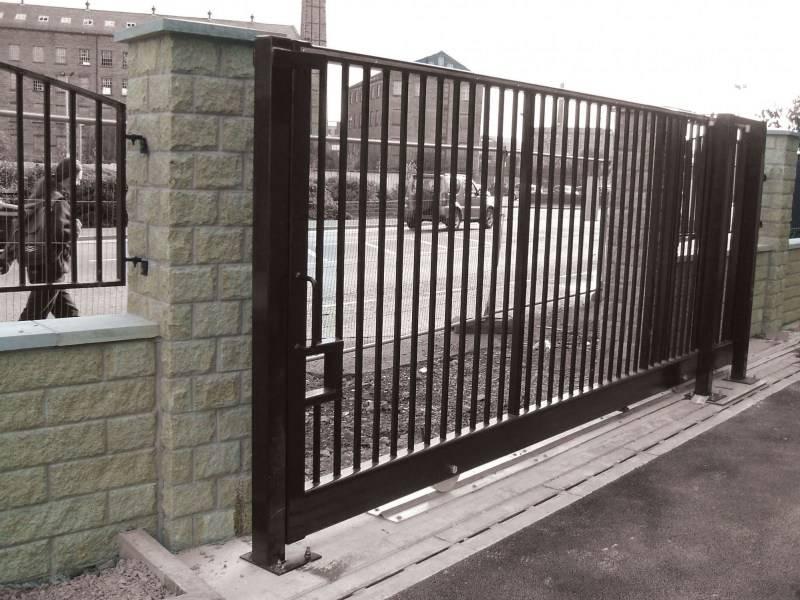 Откатные ворота своими руками: эскиз, чертеж и конструкция средний балки, фото схем и видео ролик