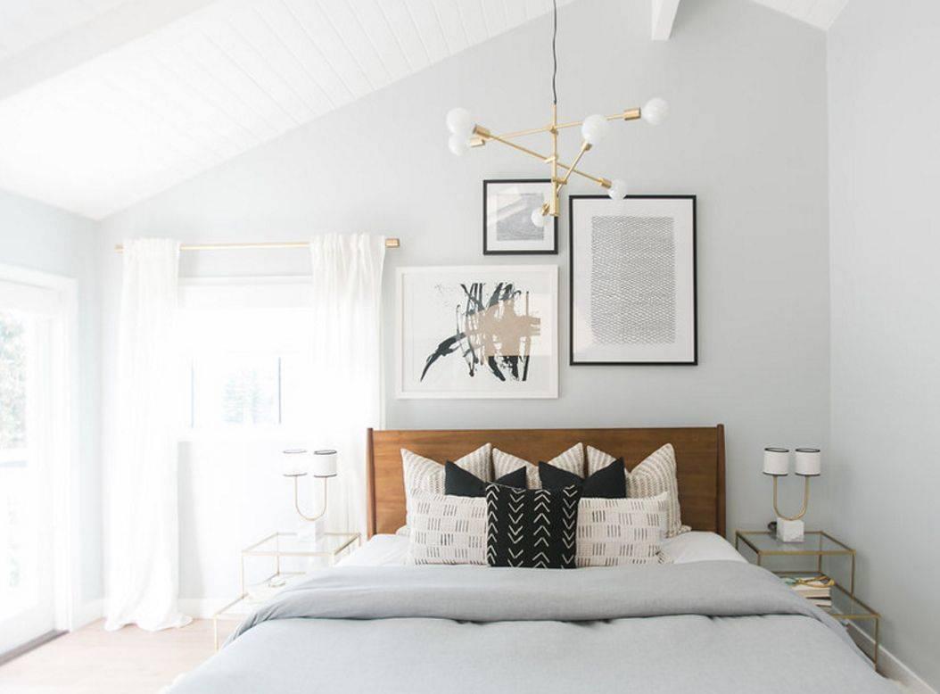 Размещение картин в спальне над кроватью по фен-шуй: Как оформить пространство. 170+ ярких и стильных акцентов