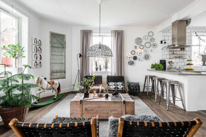 Маленькие скандинавские квартиры (47 фото)