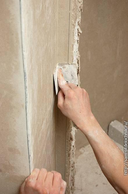 Можно ли вывести ровный внутренний или наружный угол дома в 90 градусов с помощью уголков, цемента или гипсокартона: советы, правила, техники выравнивания правилом