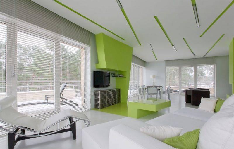 Зеленый цвет в интерьере: сочетания и идеи (90+ фото)