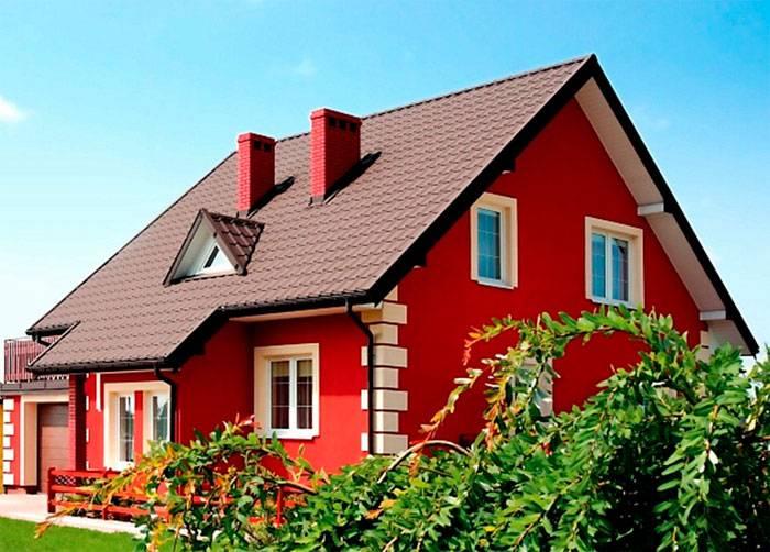 Цвет фасада дома