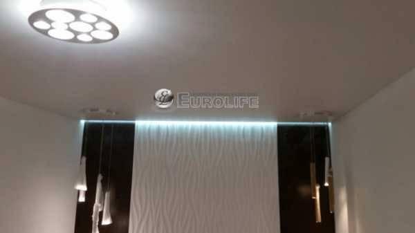 Парящий потолок из гипсокартона с подсветкой: фото, монтаж