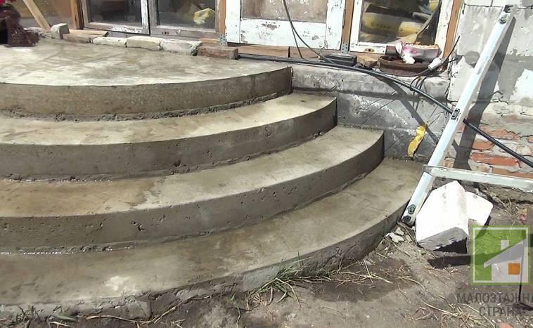 Крыльцо из бетона своими руками: пошаговая инструкция изготовления