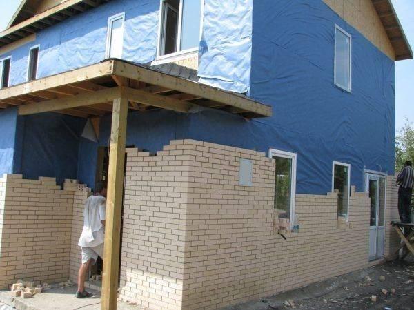 Облицовка дома кирпичом: деревянного (брусового, бревенчатого, каркасного), газобетонного, шлакового, технология, цены, фото, видео
