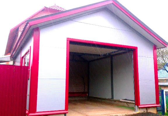 Гараж из сэндвич панелей стеновых: быстровозводимый сборный каркас, фундамент с ямой для строительства гаража-конструктора, фото-материалы