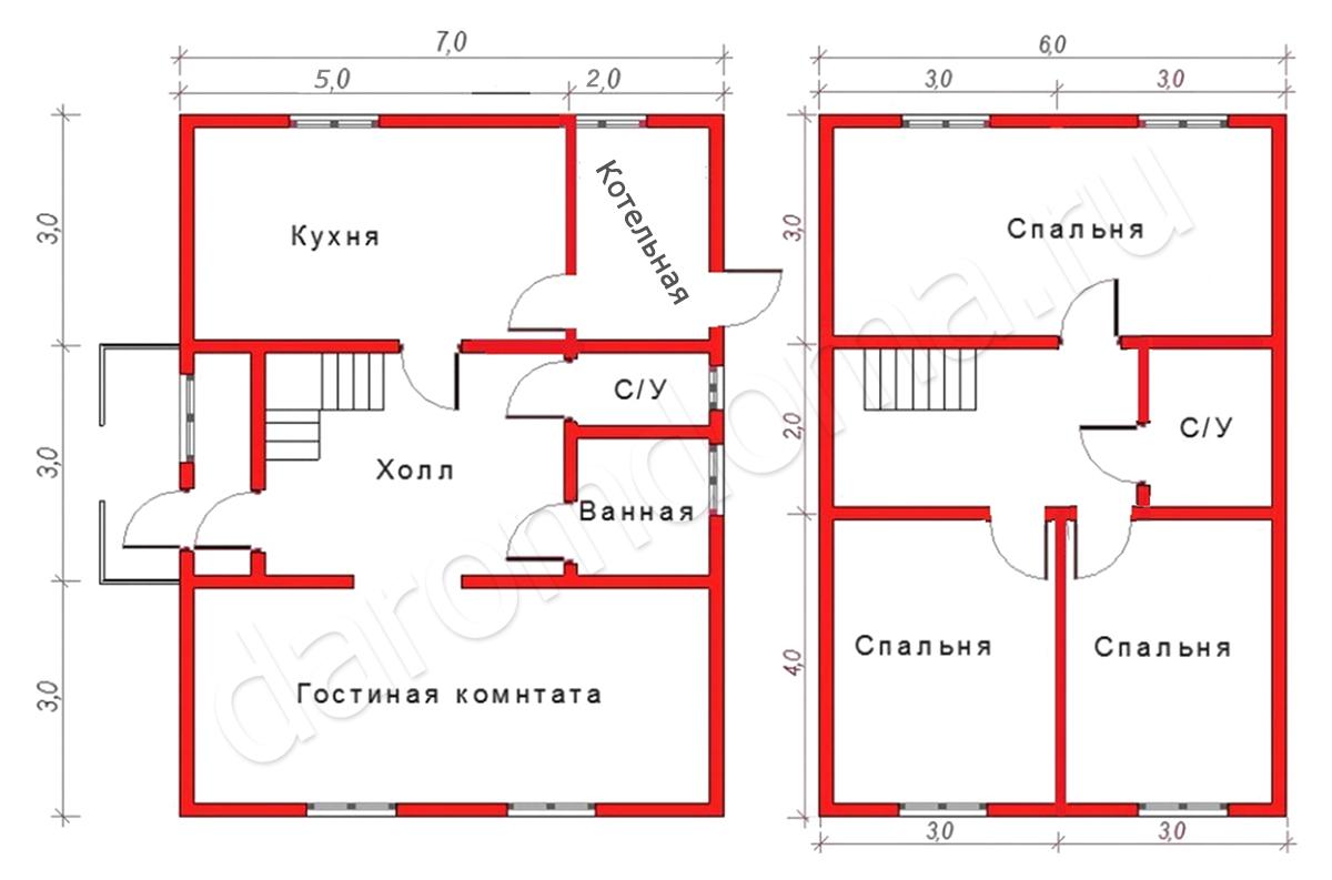 План дома из бруса – основные этапы проектирования