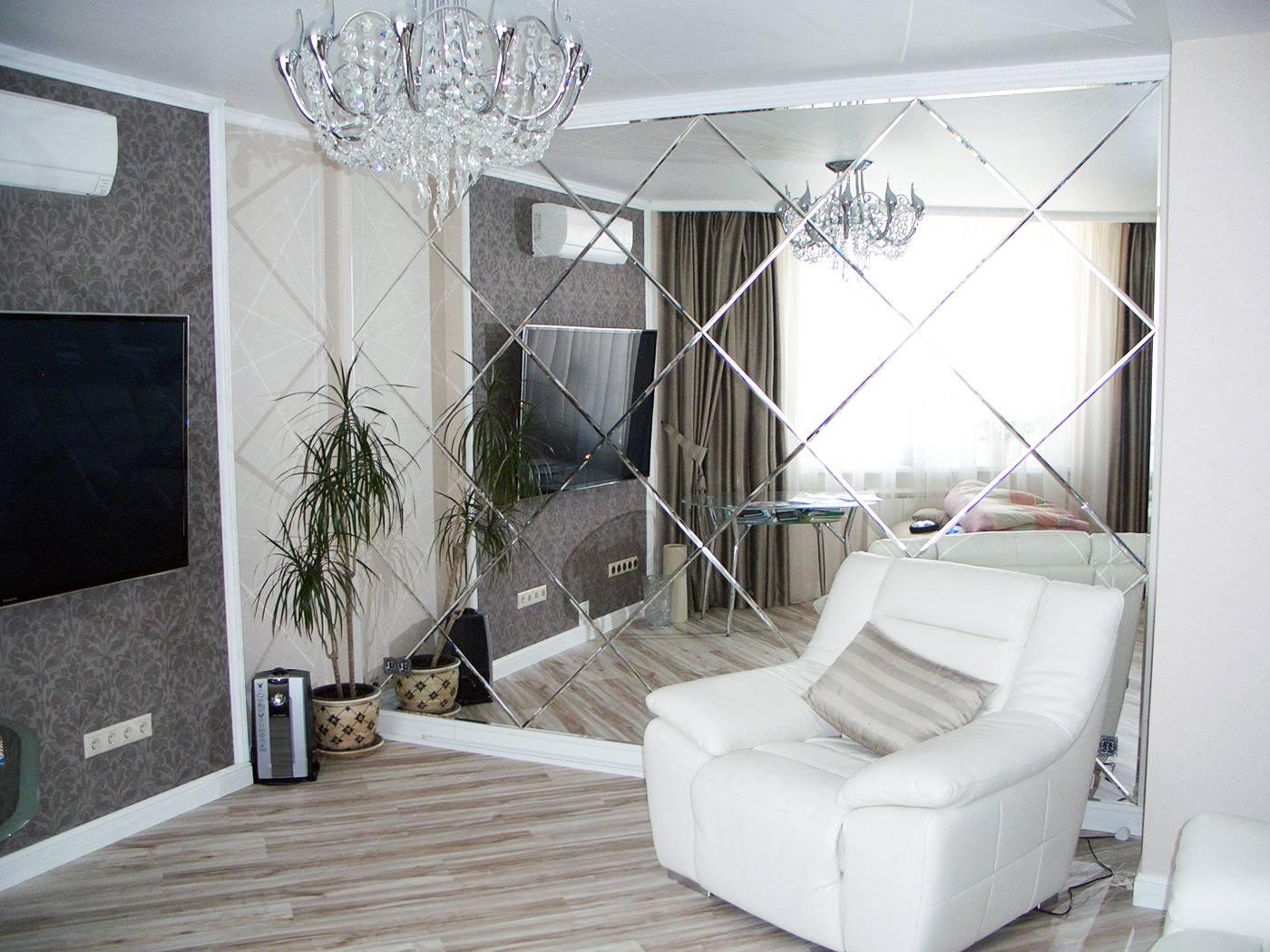 Зеркальная мозаика в интерьере: фото, идеи для кухни, ванной, спальни, гостиной