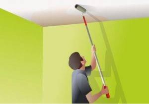 Как покрасить потолок на старую краску? покраска акриловым составом, каким валиком наносить, что делать, если покрытие отслаивается во время окрашивания