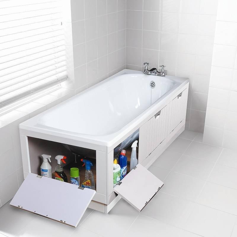 Экран под ванну своими руками: из плитка, гипсокартона, деревянный, раздвижной, под угловую