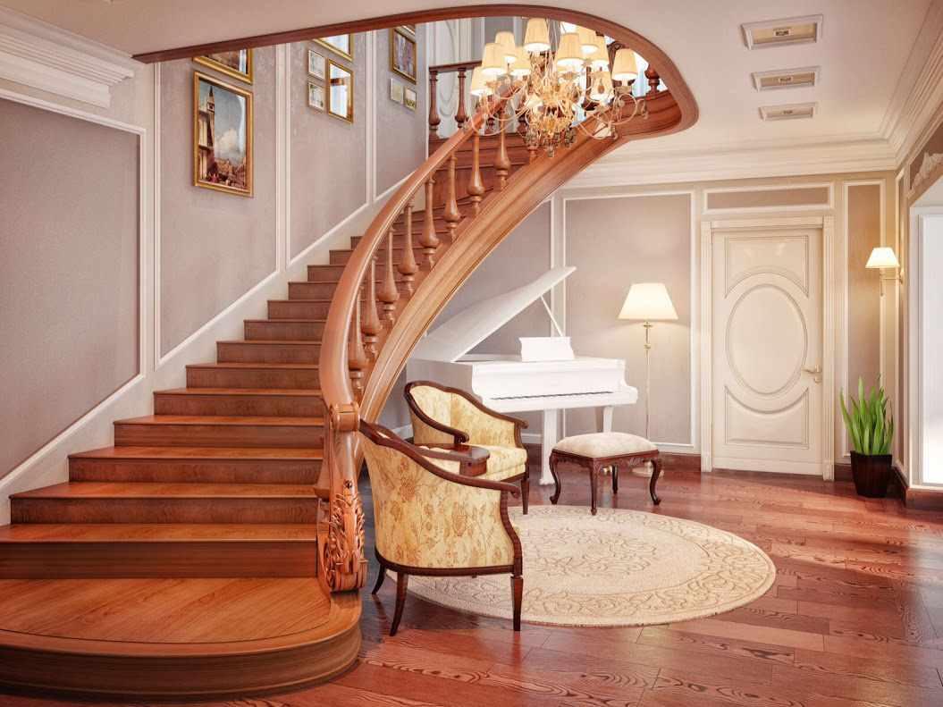 Декор лестницы — 115 фото примеров стильного украшения и необычного дизайна лестничных элементов