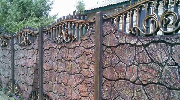 Строительство красивых каменных заборов своими руками