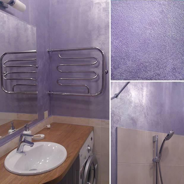 Жидкие обои для ванной комнаты: технология нанесения, примеры