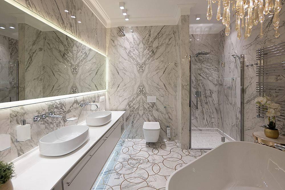 Какой керамогранит выбрать для ванной комнаты