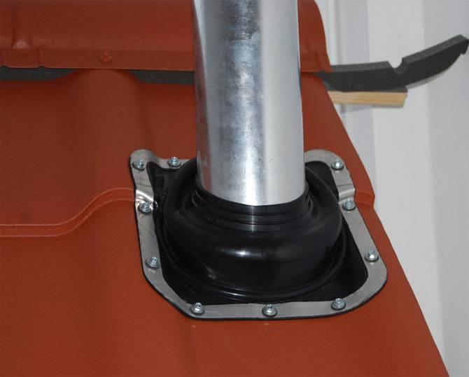Как герметизировать трубу на крыше из профнастила - клуб мастеров