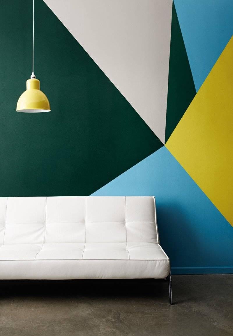 Комбинированная покраска стен в два цвета