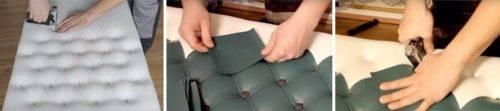 Обивка дверей дермантином: как снять старый материал и обшить заново своими руками