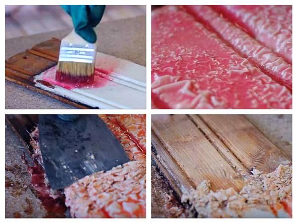 Как удалить краску с дерева