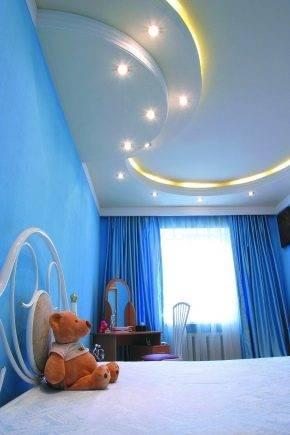 Потолки из гипсокартона в детской спальне - варианты дизайна, фото
