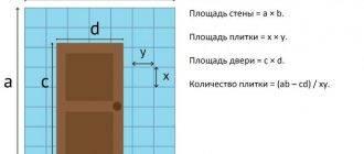 Как рассчитать плитку. пример расчета ванной 4 кв м
