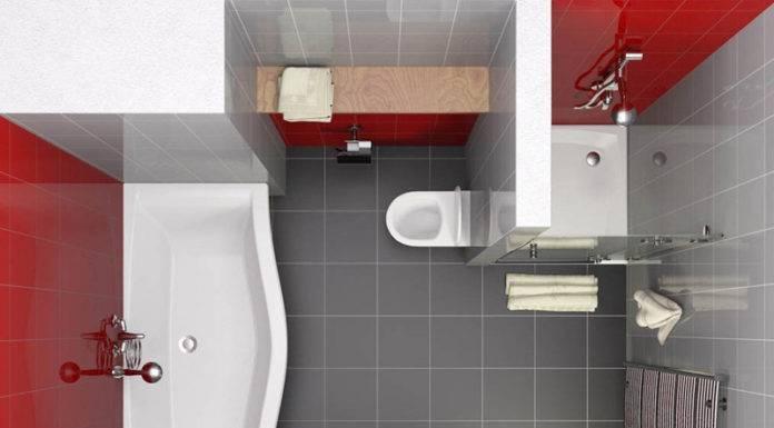 Маленькая ванная комната с туалетом: варианты интерьера