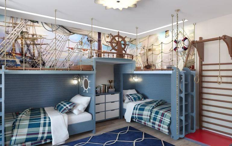 Детская комната в морском стиле: фото, примеры для мальчика и девочки