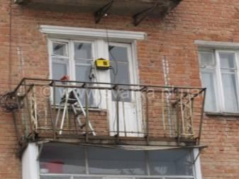 Ремонт балкона в хрущевке или панельном доме