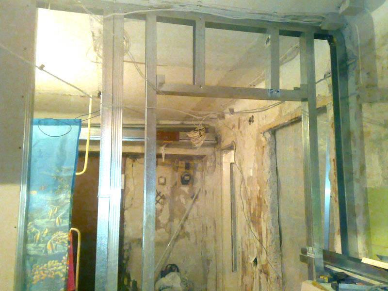 Установка двери в гипсокартонную перегородку-подробная инструкция