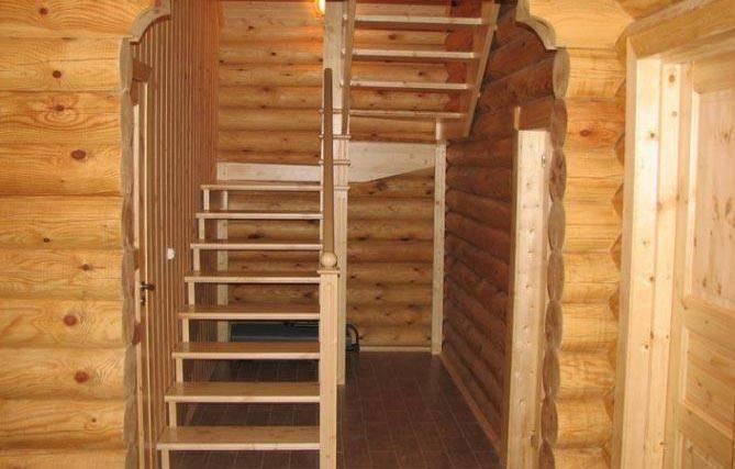 Как сделать лестницу в баню