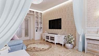 Дизайн двухкомнатной «хрущевки» площадью 43 кв.м: идеи оформления интерьера