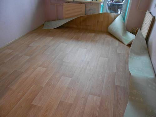 Как укладывать линолеум на пол деревянный, бетонный и другие