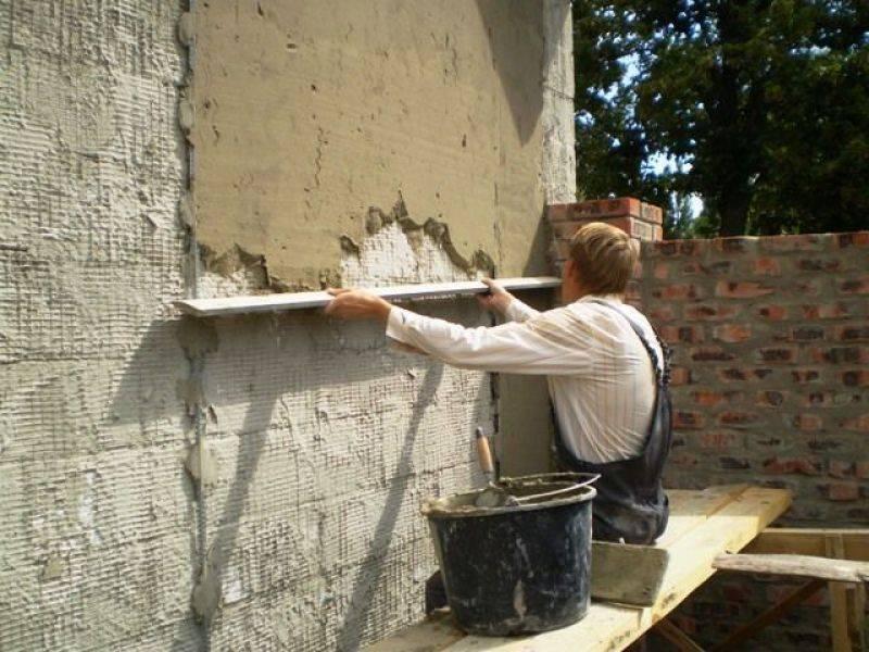 Правильная штукатурка стен цементно-песчаным раствором