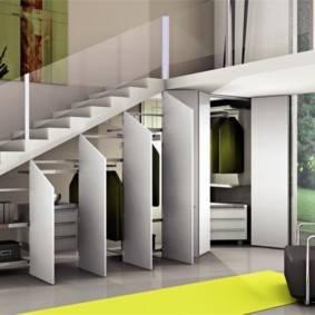 Хранение под лестницей: 100 фото практичных идей организации пространства