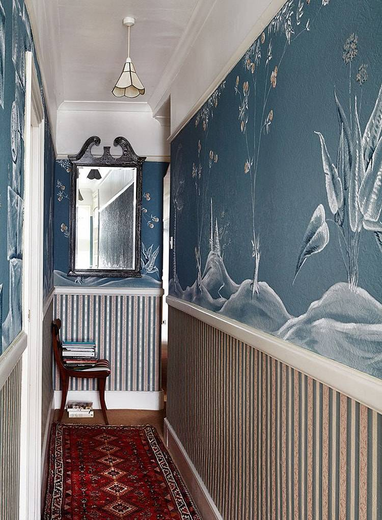 Дизайн коридора в частном доме (73 фото): красивая отделка интерьера с лестницей, как правильно оформить второй этаж, чем отделать стены в холодной прихожей