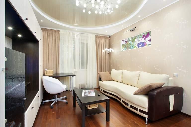 Натяжные потолки для зала: выбираем дизайн