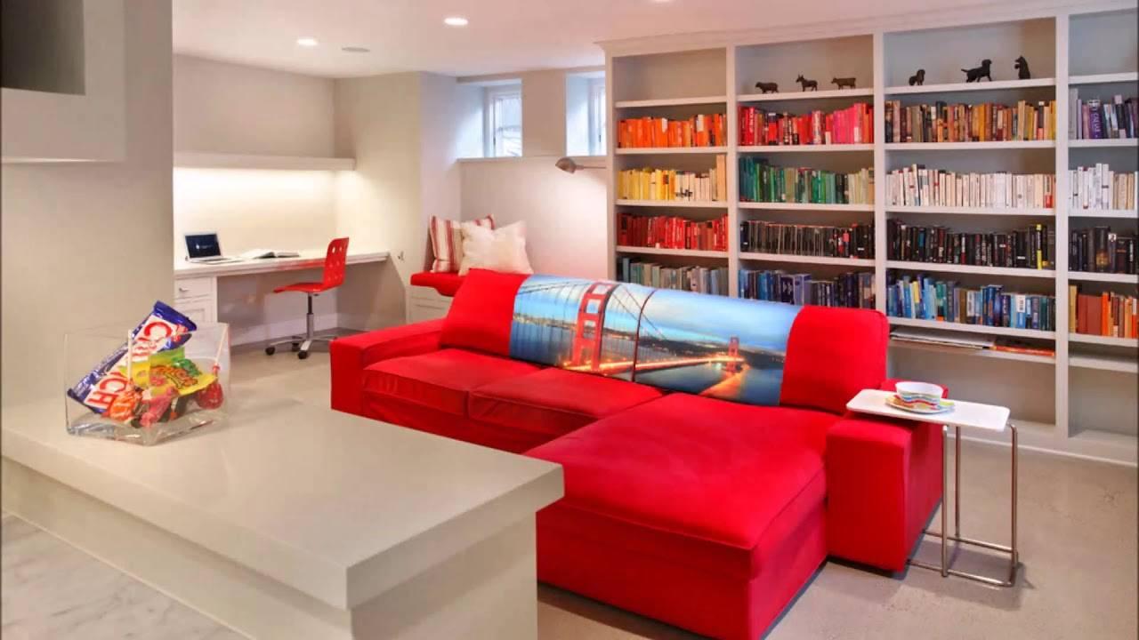Особенности красных диванов, удачные цветовые сочетания в интерьере