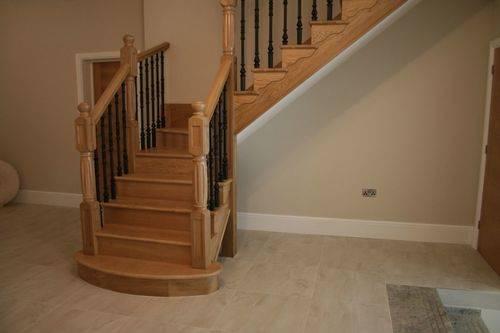 Лестница с поворотом на 180°, с площадкой
