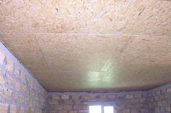 Потолок из осб плит и его отделка своими руками