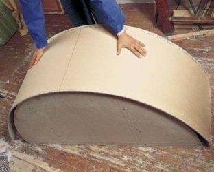 Как загнуть гипсокартон полукругом - только ремонт своими руками в квартире: фото, видео, инструкции