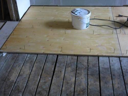 Укладка фанеры на деревянный пол под линолеум