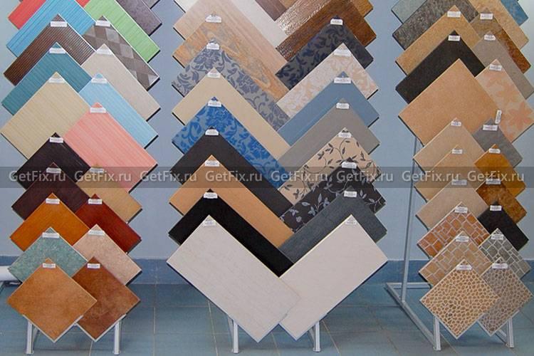 Размеры керамогранитной плитки для пола и стен, толщина, формы