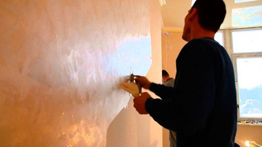 Фактурная краска для стен, способы нанесения с фото