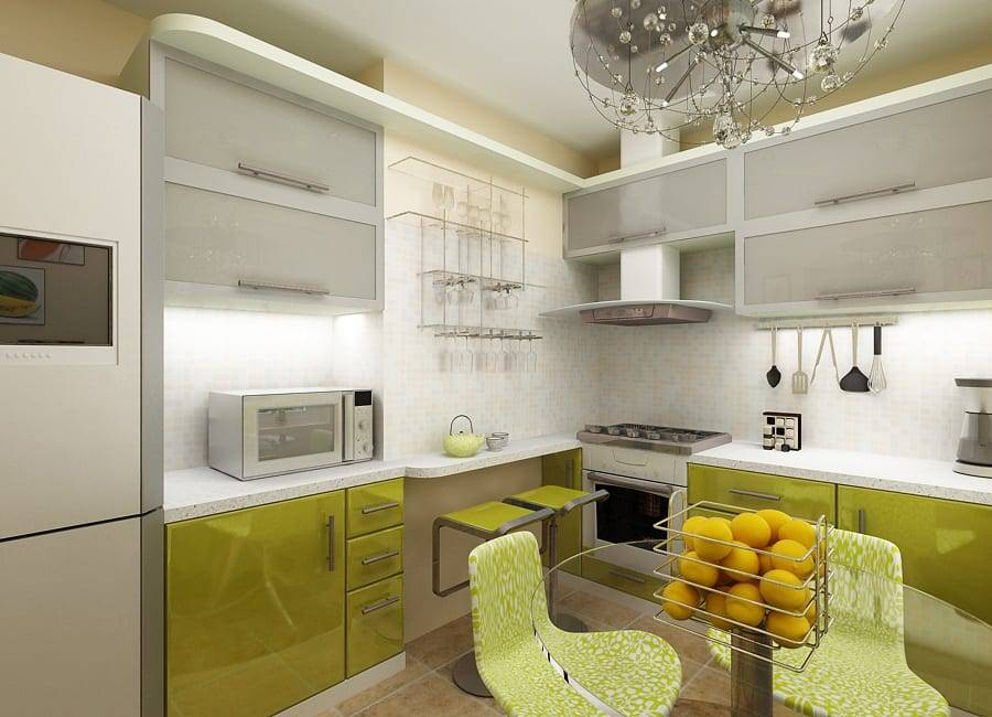 Дизайн кухни в оливковом цвете в разных стилях - результат правильно подобранных сочетаний цветов