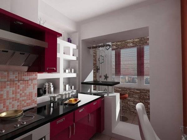 Кухня совмещенная с балконом: фото, дизайн, варианты объединения