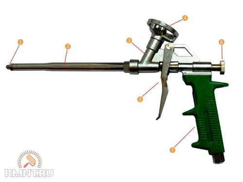 Пистолет для монтажной пены: как пользоваться при работе?